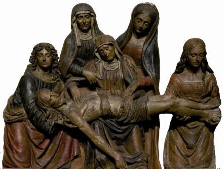 Ambito di Giovanni della Robbia Pietà Terracotta dipinta, 1500-1520 circa Terranuova Bracciolini, chiesa di Santa Maria Bambina